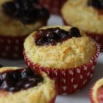 Cornbread Muffins with Chocolate Chips and Strawberry Jam